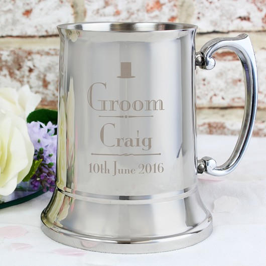 Groom Personalised Stainless Steel Tankard