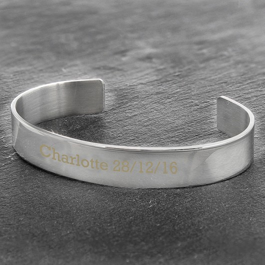 Stainless Steel Personalised Bangle