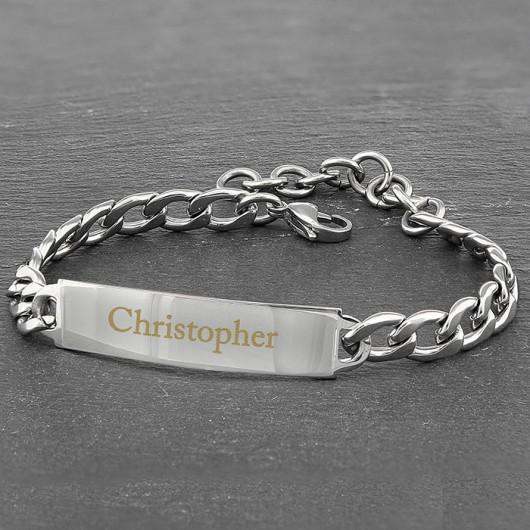 Stainless Steel Personalised Unisex Bracelet