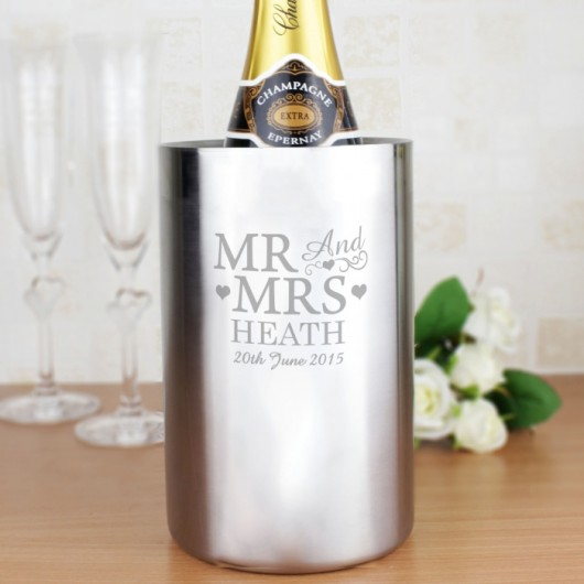 Mr & Mrs Personalised Wine Cooler