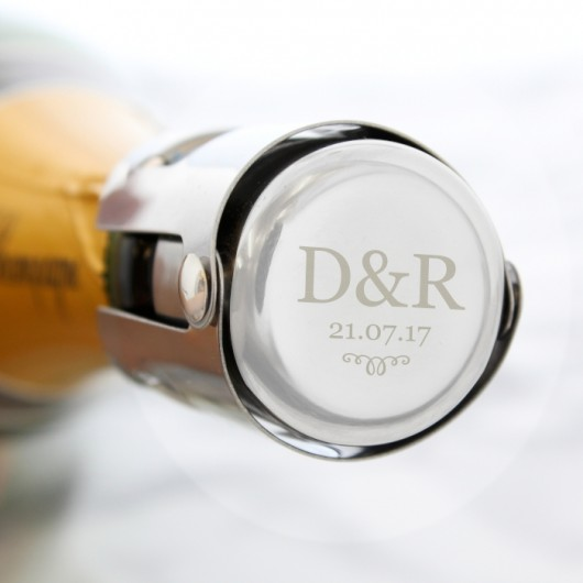 Monogram Personalised Bottle Stopper