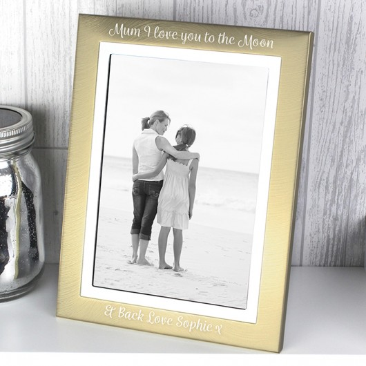 Brushed Gold and Silver Personalised Photo Frame