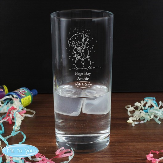 Me To You Personalised Engraved Wedding Boy Hi Ball Glass