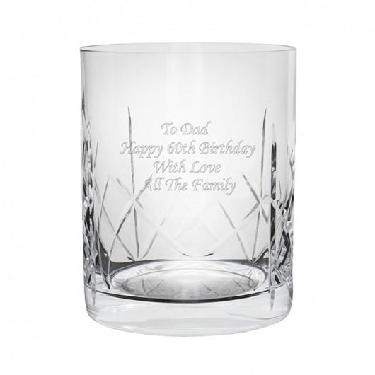 Whisky Personalised Crystal Tumbler
