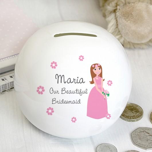 Beautiful Bridesmaid Money Box - Personalised