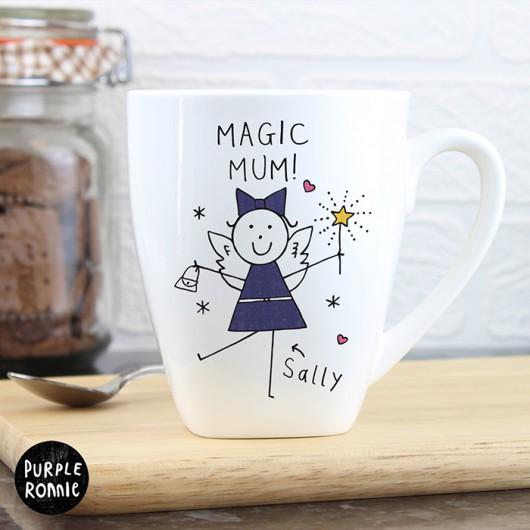 Purple Ronnie Fairy Latte Mug