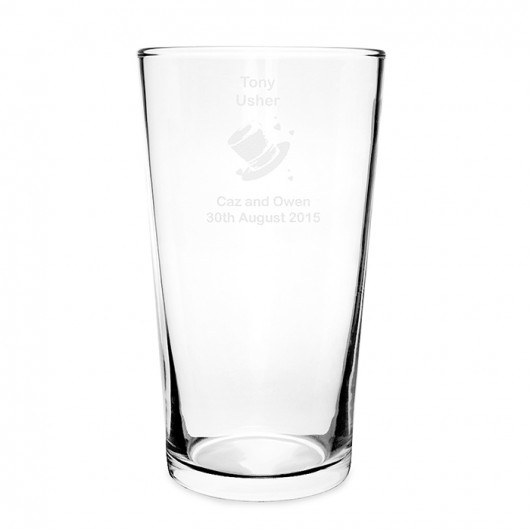 Personalised Wedding Party Pilsner Glass