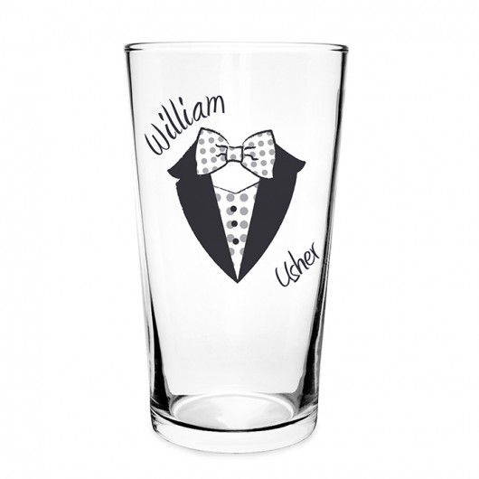 Personalised Dotty Pilsner Glass