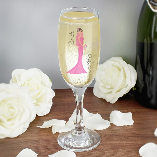 Personalised 'Bride' Fabulous Champagne Flute