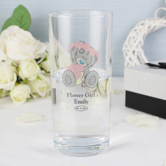 Me To You Girls Wedding Hi Ball Glass