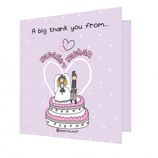 Bang on the Door Personalise Thank You Cards