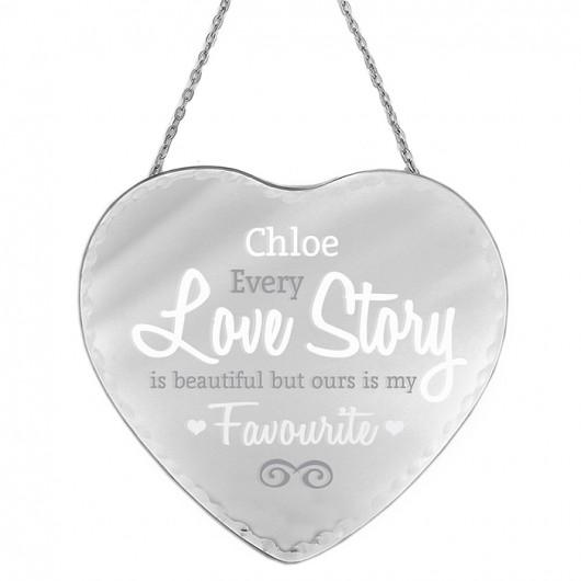 Love Story Heart Mirror