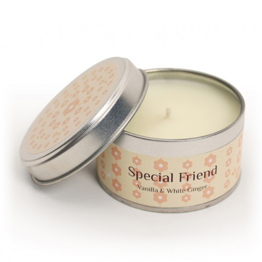 Special Friend - Vanilla & White Ginger Fragranced Candle Tin