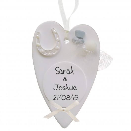Wedding Heart Plaque