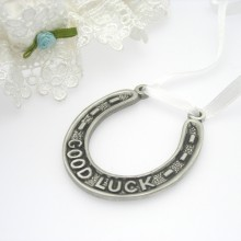 Pewter Wedding Horseshoe