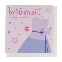 Fashionista Bridesmaid Thank You Card