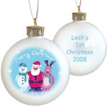 Personalised Christmas Scene Bauble
