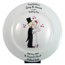 Personalised Wedding Couple Wedding Plate