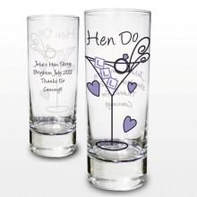 Personalised Hen Night Shot Glass