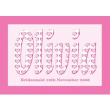 Personalised Framed Bridesmaid Name Picture