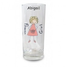 Personalised Bridesmaid or Flower Girl Hi-ball Glass