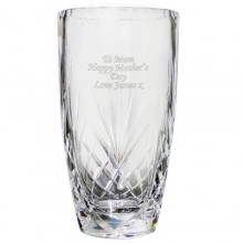 Personalised Oval Crystal Vase