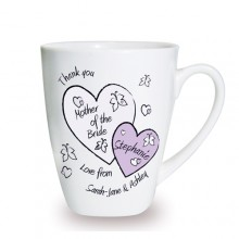 Personalised Butterfly & Hearts Wedding Mug
