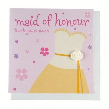 Fashionista Maid of Honour Thank You Card