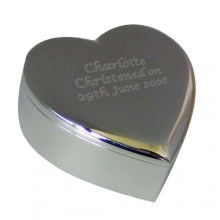 Personalised Silver Plated Heart Trinket