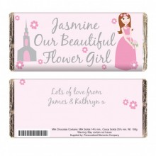 Fabulous Flower Girl Chocolate Bar - Personalised