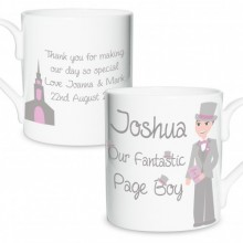 Fabulous Page Boy Mug - Personalised