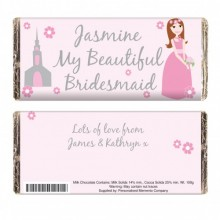Fabulous Bridesmaid Chocolate Bar - Personalised