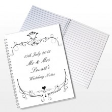 Personalised Ornate Swirl Notebook