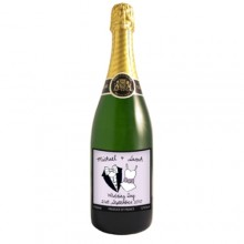 Personalised Dotty Champagne Bottle