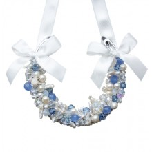 Opal Blue Wedding Horseshoe