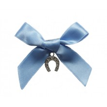 Something Blue Horseshoe Charm