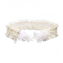 Freya Ivory Lace Wedding Garter