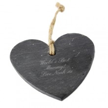 Personalised Script Slate Heart Decoration