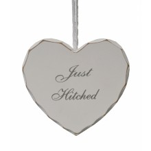 Just Hitched Heart Sign