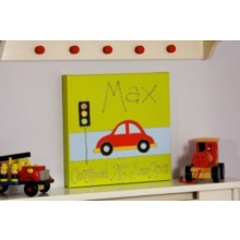 Personalised Bubble Car Canvas