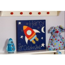 Personalised Rocket Canvas