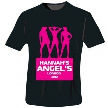 Personalised Angels Hen Do T-Shirts - in Black