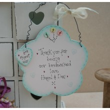 Handmade Wooden Flower Girl or Bridesmaid Sign