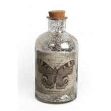 Antique Effect Glass Butterfly Bottle