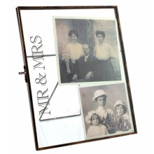 Mr & Mrs Metal Rimmed Glass Frame