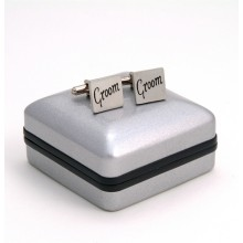 "Pewter ""Groom"" Cufflinks"