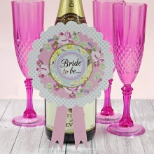 Pastel Bride to Be Rosette