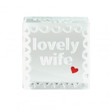 Lovely Wife Glass Text Token