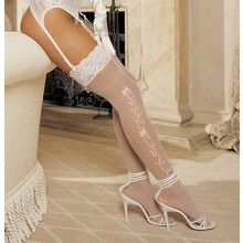 Wedding Bell Sheer White Stockings