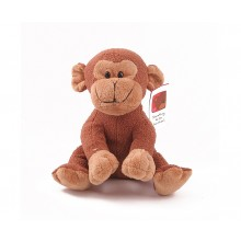 Personalised Cheeky Monkey with Engraved Message Heart